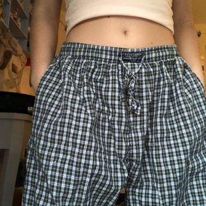 Plaid pj pants